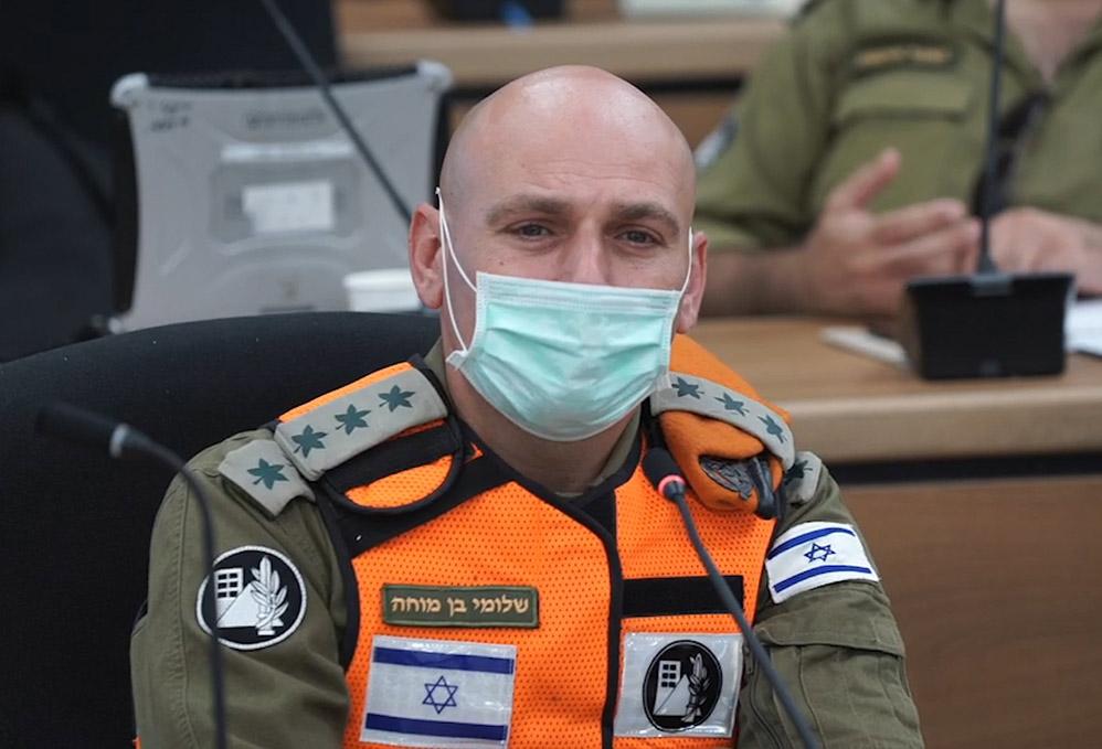 """אל""""מ שלומי בן מוחה - מפקד חטיבת החילוץ וההדרכה - פיקוד העורף (צילום: ירון כרמי)"""