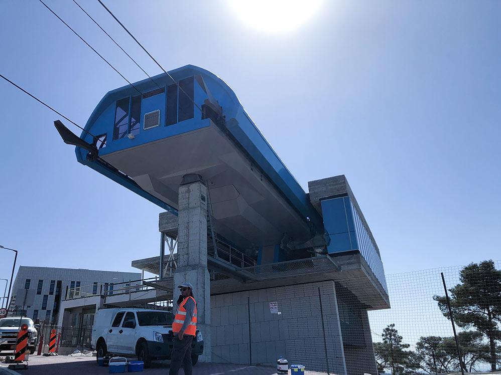 רכבל חיפה • הרכבלית - התחנה העליונה באוניברסיטת חיפה (צילום: ירון כרמי)
