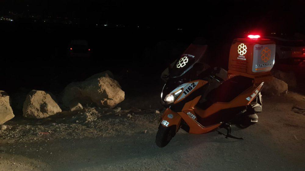 גבר טבע למוות בחוף אזור התעשייה שמדרום לקריית חיים בחיפה (צילום: איחוד הצלה)
