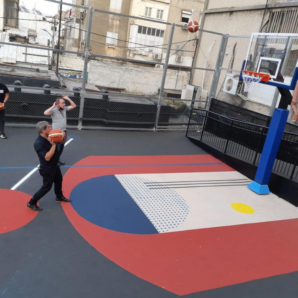מגרשי ספורט חדשים בהדר | לזר קפלון (צילום: דוברות העירייה)
