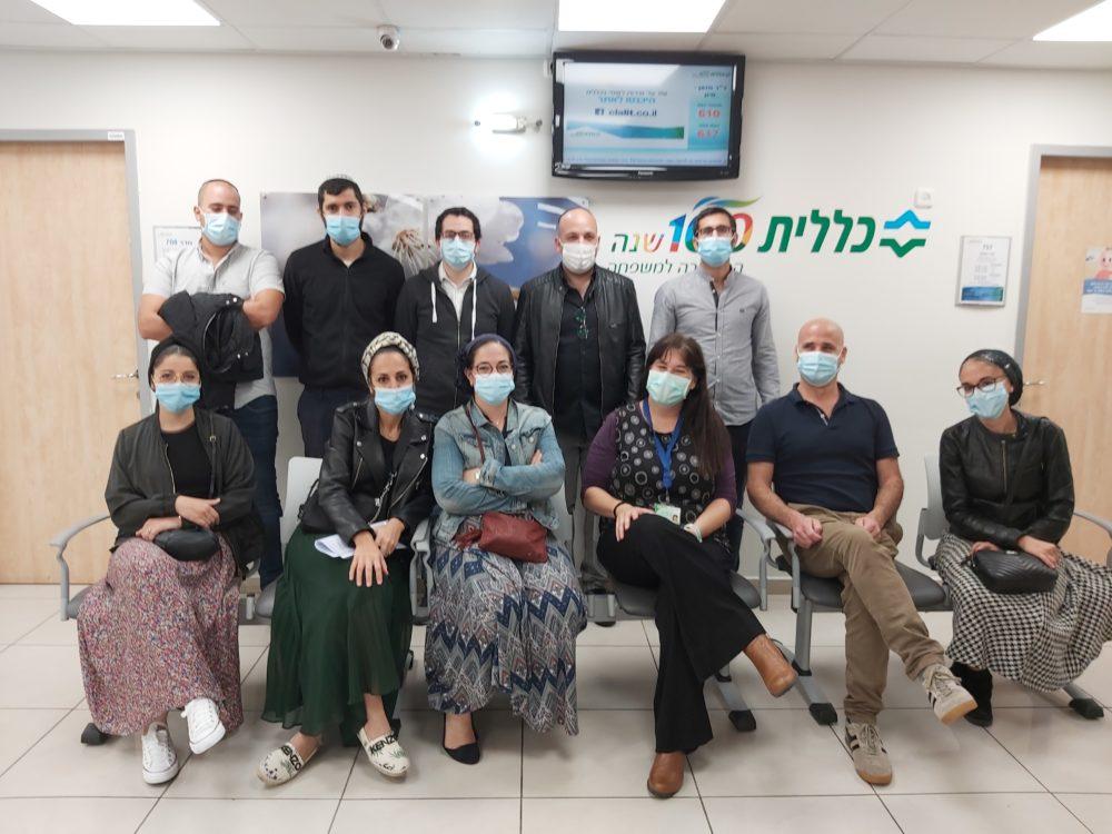 מפגש עם צוות רפואי עולים מצרפת (צילום: דוברות כללית)