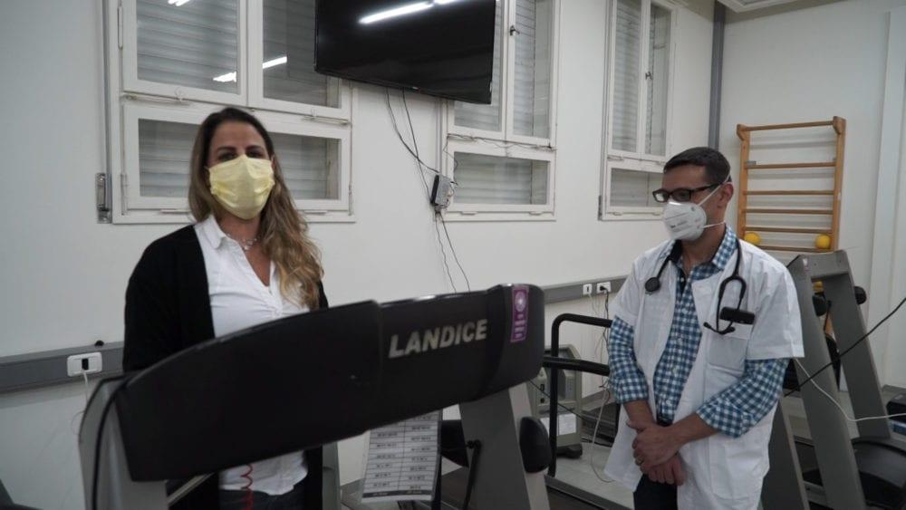 """ד""""ר ג'יהאד ח'ורי ואלינור דרורי (צילום: ירון כרמי)"""