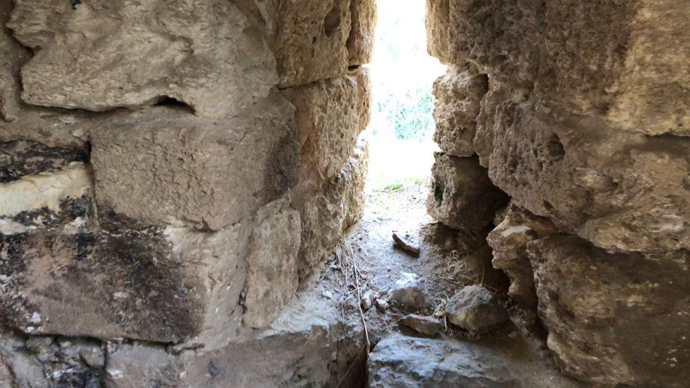 עמדת ירי - מצודת ראש מיה (צילום: ירון כרמי)