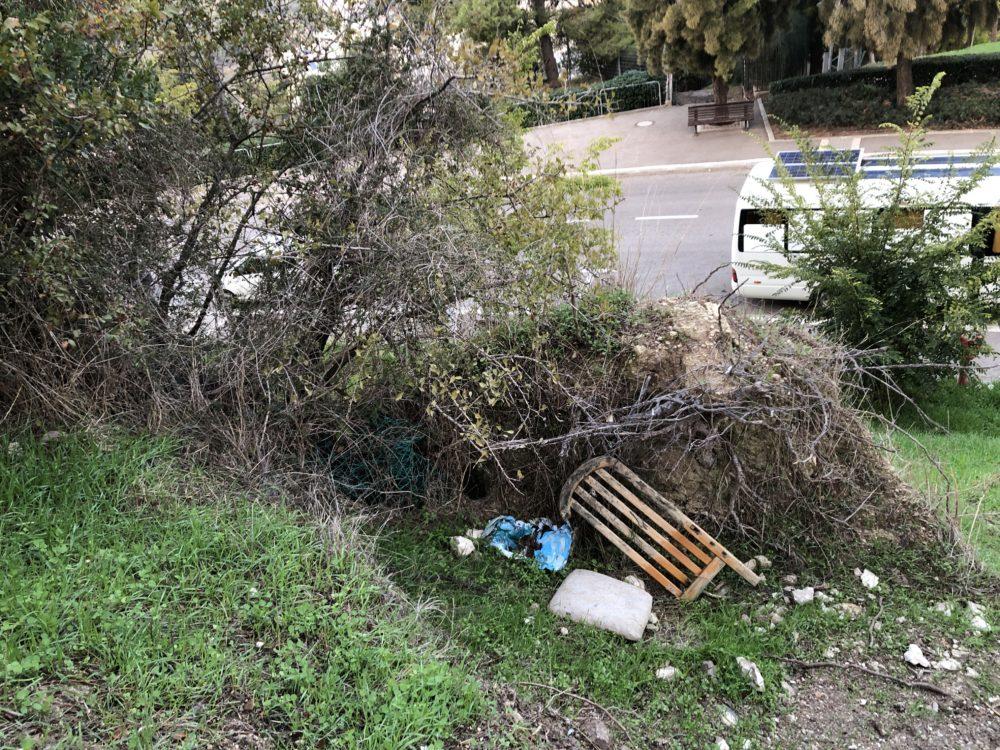פסולת - מצודה צלבנית עתיקה בלב חיפה - מצודת ראש מיה (צילום: ירון כרמי)