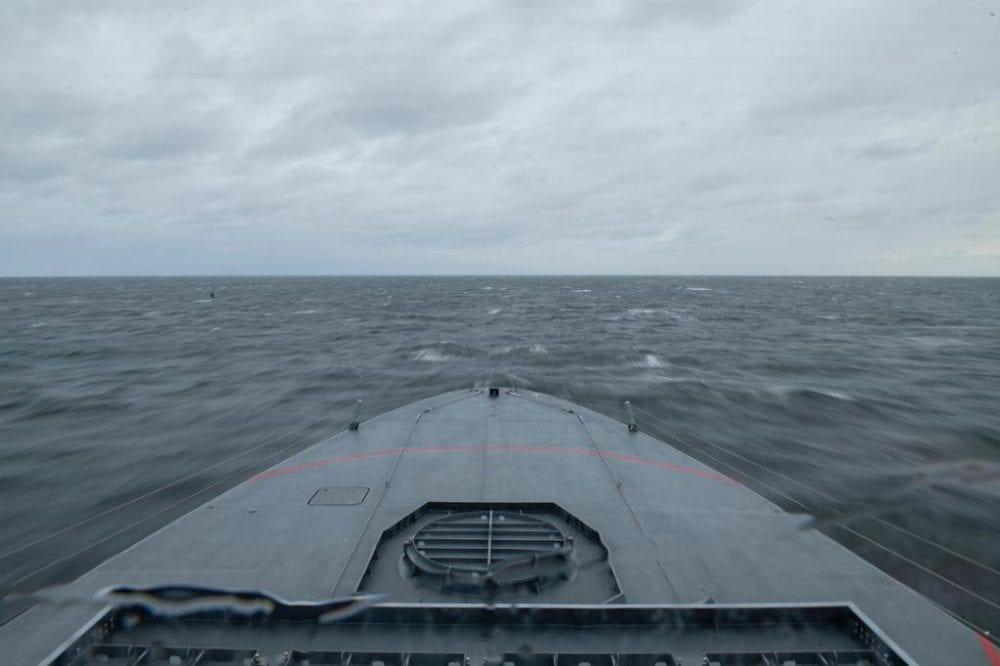 """אח""""י 'מגן' - ספינת הקרב המתקדמת מדגם סער 6 (צילום: דובר צה""""ל)"""