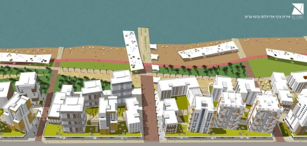 הדמיה - התחדשות עירונית בקריית חיים (הדמיה באדיבות פרופ' אדר' אירית צרף אדריכלות ובינוי ערים)