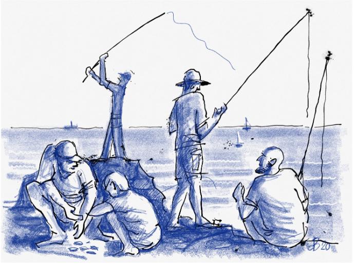 דייג, אוהב דגים? (איור: דוד בר און)