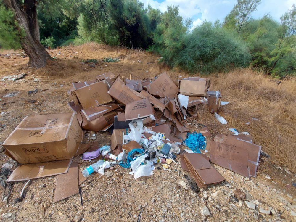 פסולת בניין (צילום: דוברות עיריית חיפה)