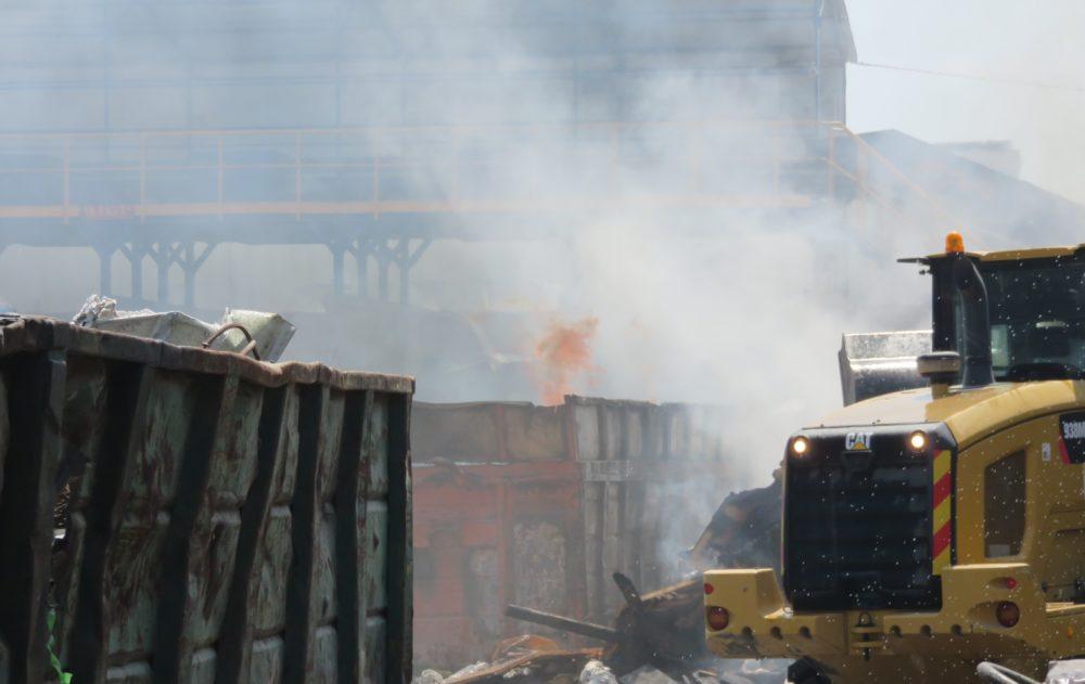 תחנת מעבר ומיון פסולת של חברת א.ניר. (צילום: המשרד להגנת הסביבה)