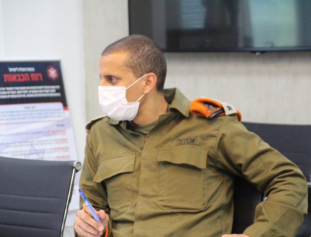 אלעד אדרי פיקוד העורף (צילום: כבאות והצלה)