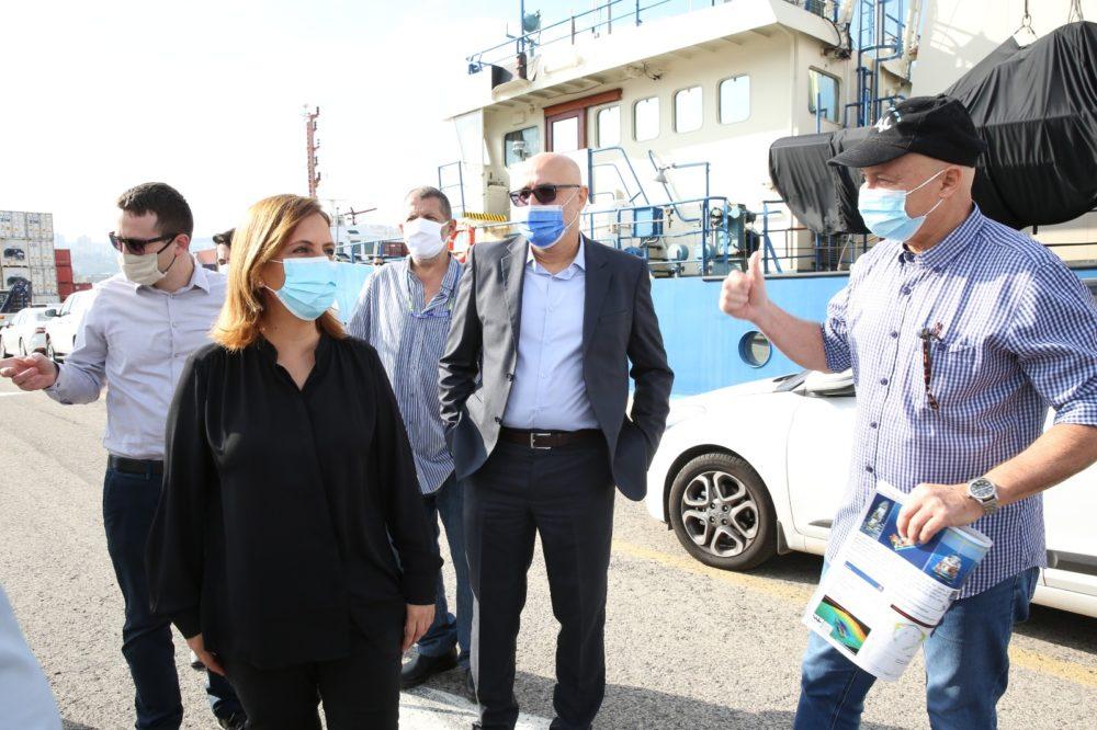 גילה גמליאל | תרגיל זיהום ים (צילום: המשרד להגנת הסביבה)