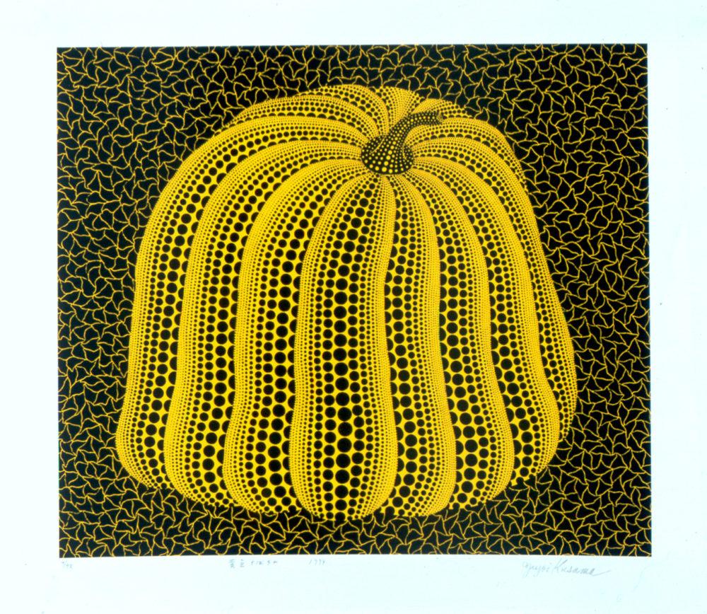 """""""דלעת צהובה"""" של האומנית יאיוי קוסאמה (צילום: מוזיאון טיקוטין)"""