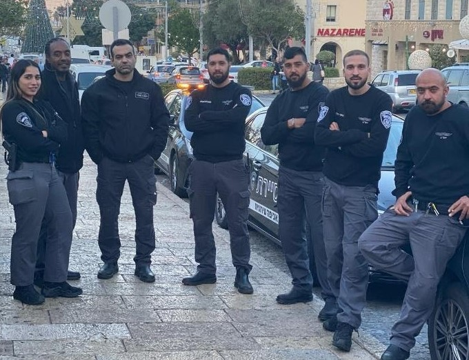 חברי סיירת הביטחון של עיריית חיפה. (צילום: חבר מחברי הסיירת)