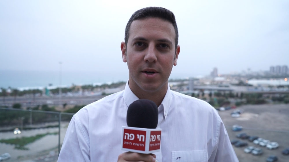 """עו""""ד דוד עציוני • החברה הכלכלית לחיפה - תכנית """"שלבים"""" לשילוב בני 50 ומעלה במעגל התעסוקה (צילום: חי פה בשטח)"""