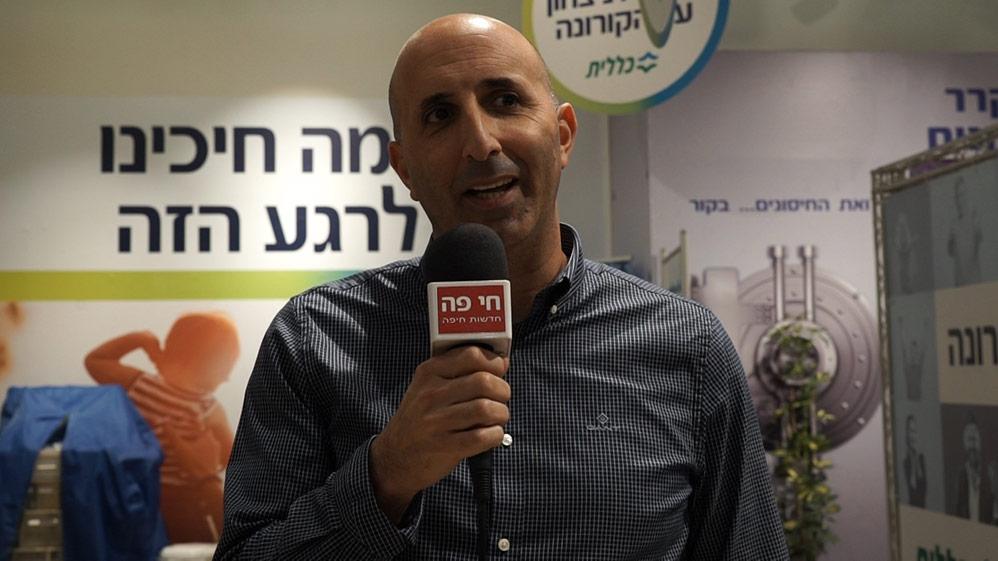 """דותן שלום, מנכ""""ל קניון שער הצפון (צילום: חי פה - תאגיד החדשות של חיפה והסביבה)"""