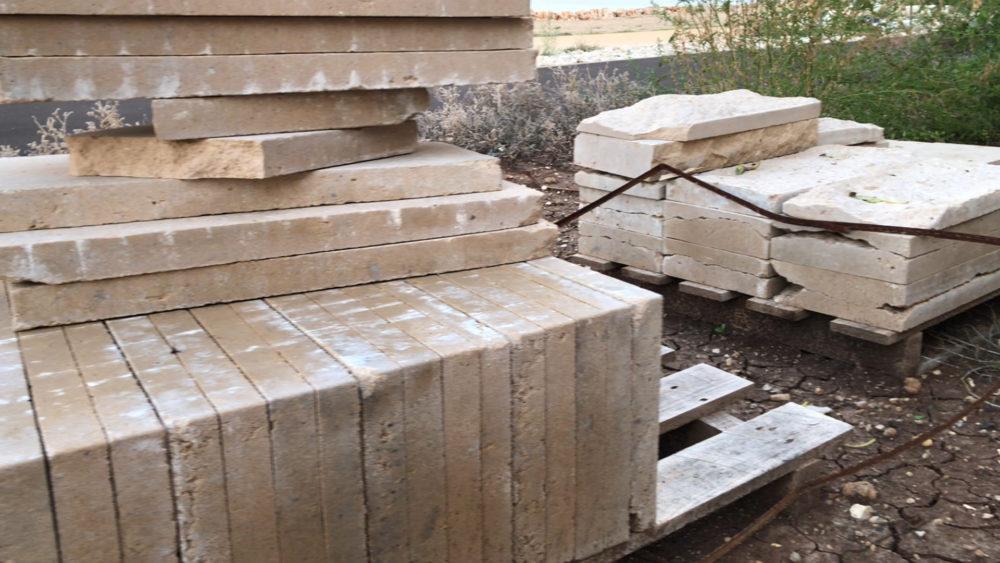 חומרי בניין - טיילת חולדה בחיפה (צילום: ירון כרמי)