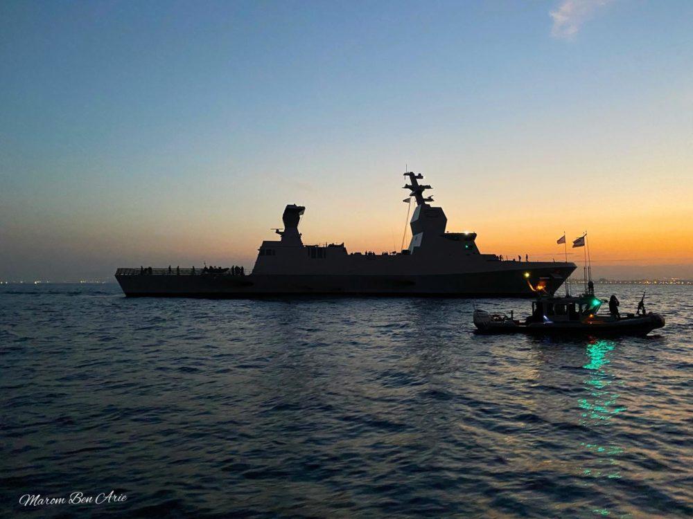"""ספינת הטילים סער 6 אח""""י מגן הגיעה לחיפה (צילום: מרום בן-אריה)"""