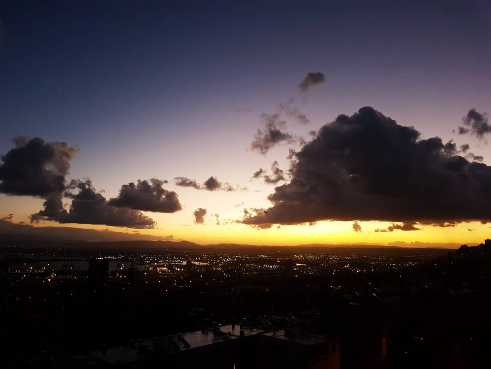 חיפה בזריחה - מפרץ חיפה (צילום: יאנה נגאי קוסוב)
