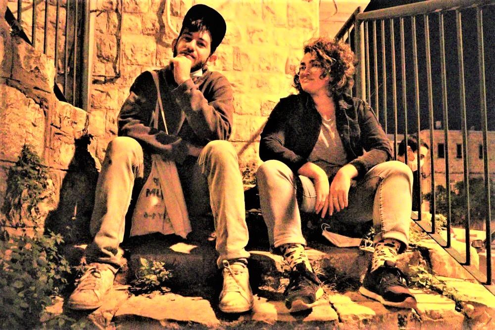 מיכל נר דוד וארז שמח (צילום: עומר מוזר)