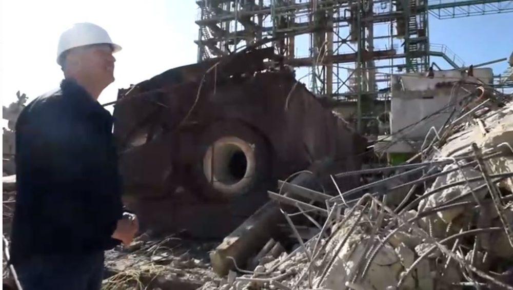 פיצוץ המתקנים הישנים (צילום: חיפה כימקלים)