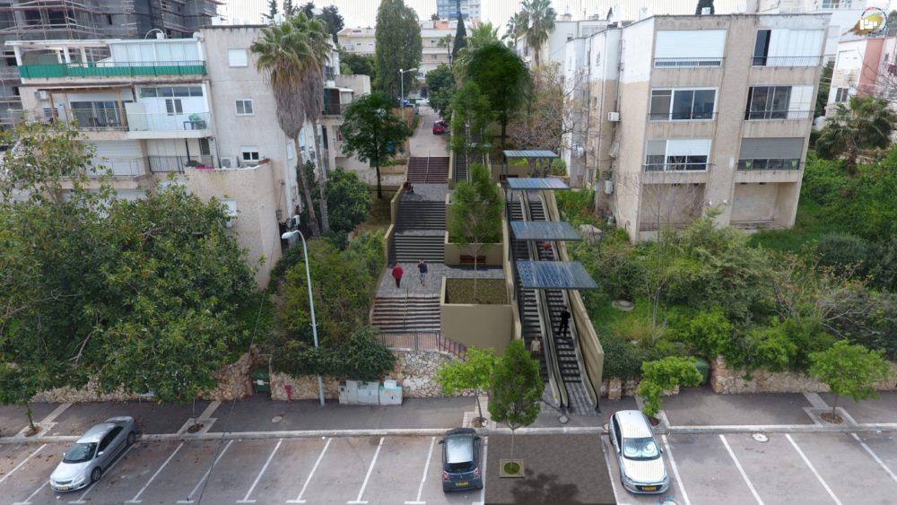 תוכנית הדרגנועים (צילום: עיריית חיפה)