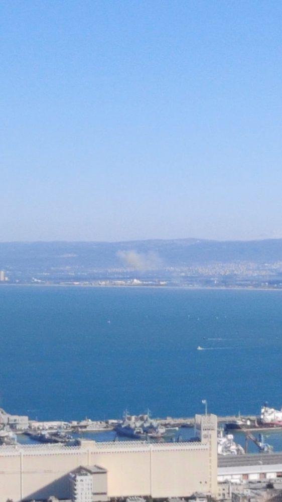 פיצוץ במפרץ חיפה (צילום: כריסטופר סוידאן)