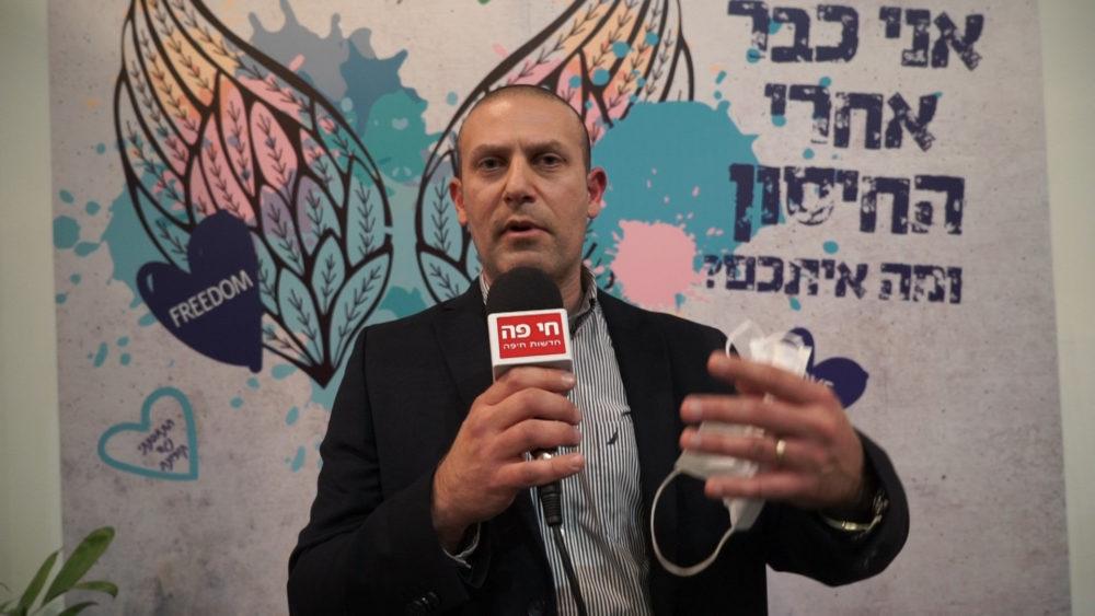 רונן נודלמן • מתחם חיסוני קורונה ענק של כללית נפתח במרכז הקונגרסים בחיפה (צילום: ירון כרמי)