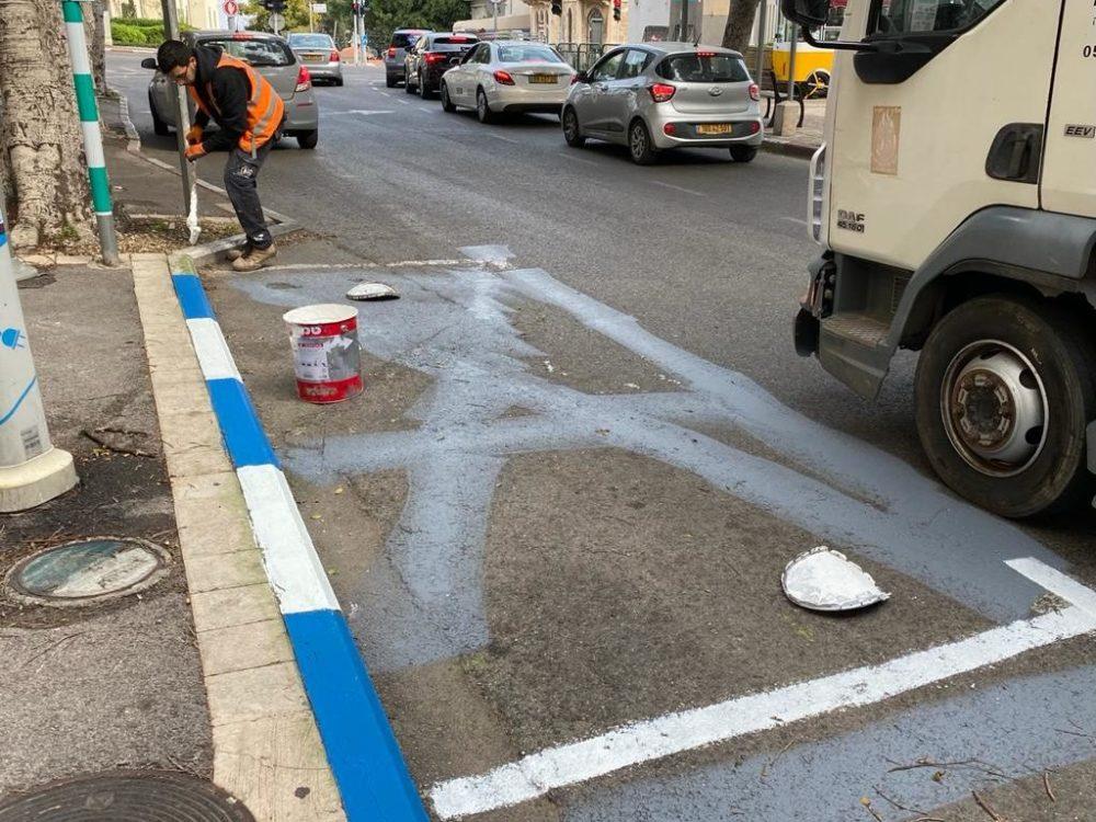 החניות חוזרות לשימוש הציבור (תילום: ראובן כהן דוברות עיריית חיפה)