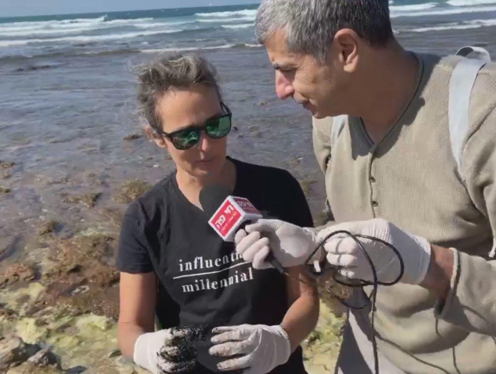 מיכל וימר לוריא בראיון לחי פה (צילום: ירון כרמי)