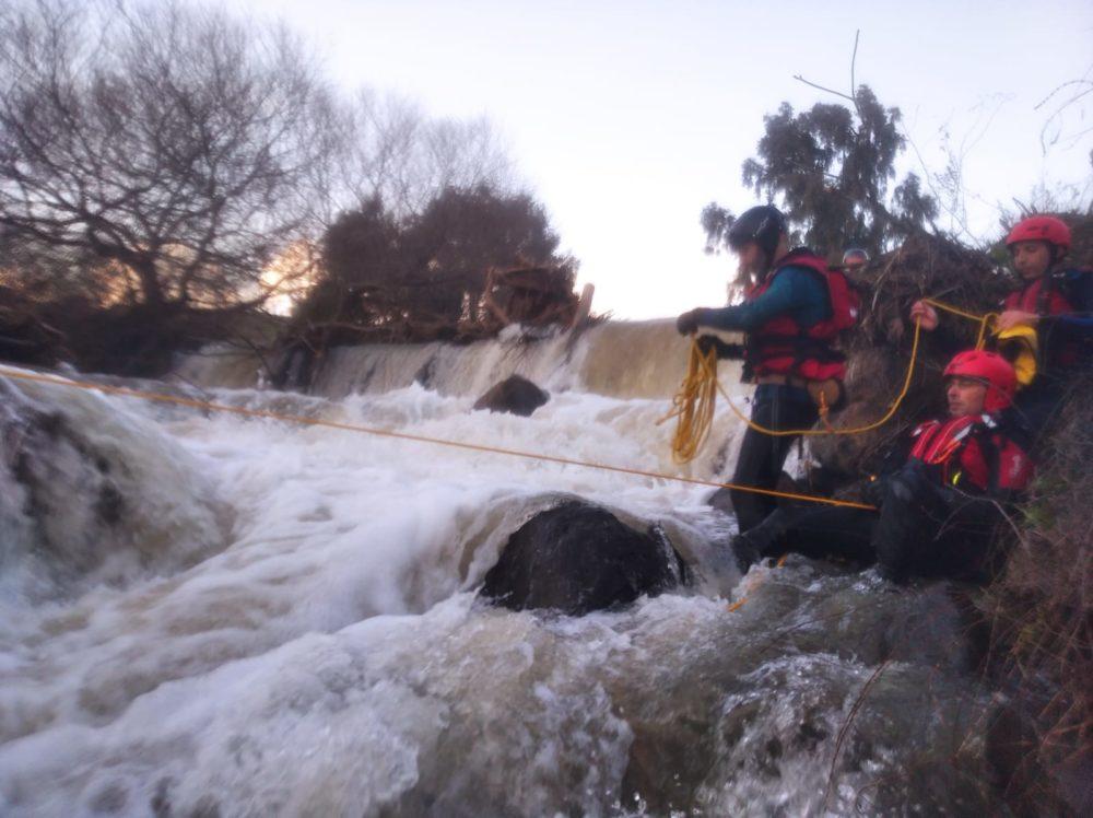יח' החילוץ גליל כרמל באימון מאתגר בירדן הגועש (צילום: יחידת החילוץ גליל-כרמל)