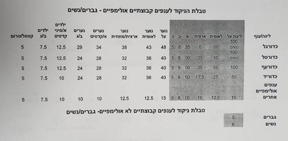 הקריטריונים לחלוקת תקציב הספורט בחיפה 2021 - 6