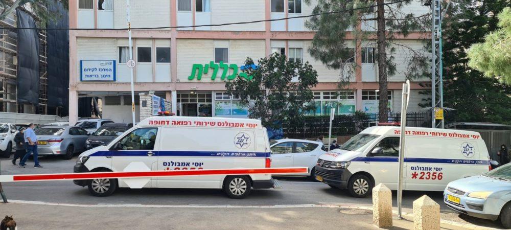 חיסון קורונה למרותקי בית בכללית מחוז חיפה (צילום: דוברות כללית)