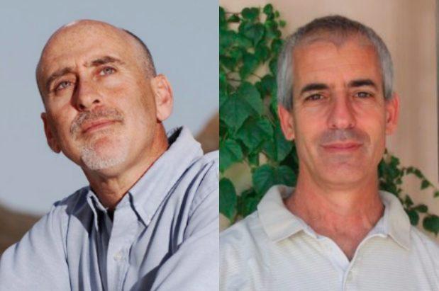 פרופסור אורי שיינס ופרופסור אלון טל  (צילום: ליאו בק, TIME)