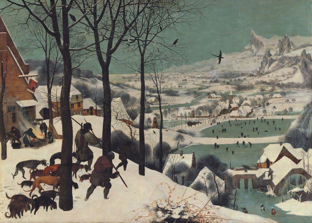 ציידים בשלג (צילום: מוזיאוני חיפה)
