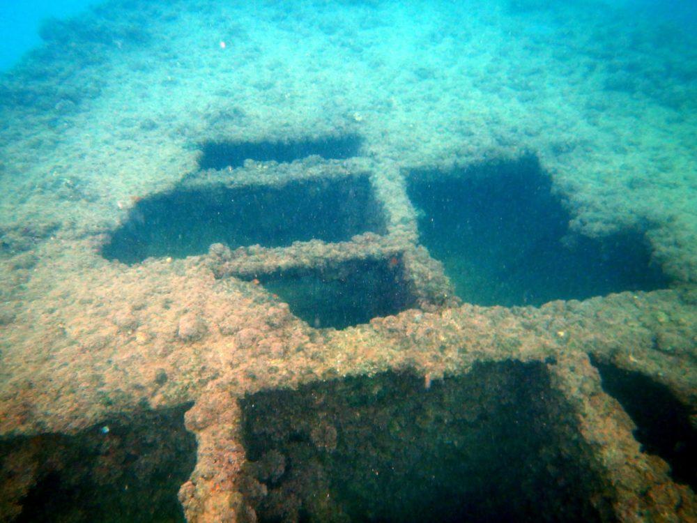 ספינה טבועה במפרץ חיפה (צילום תת ימי: מוטי מנדלסון)