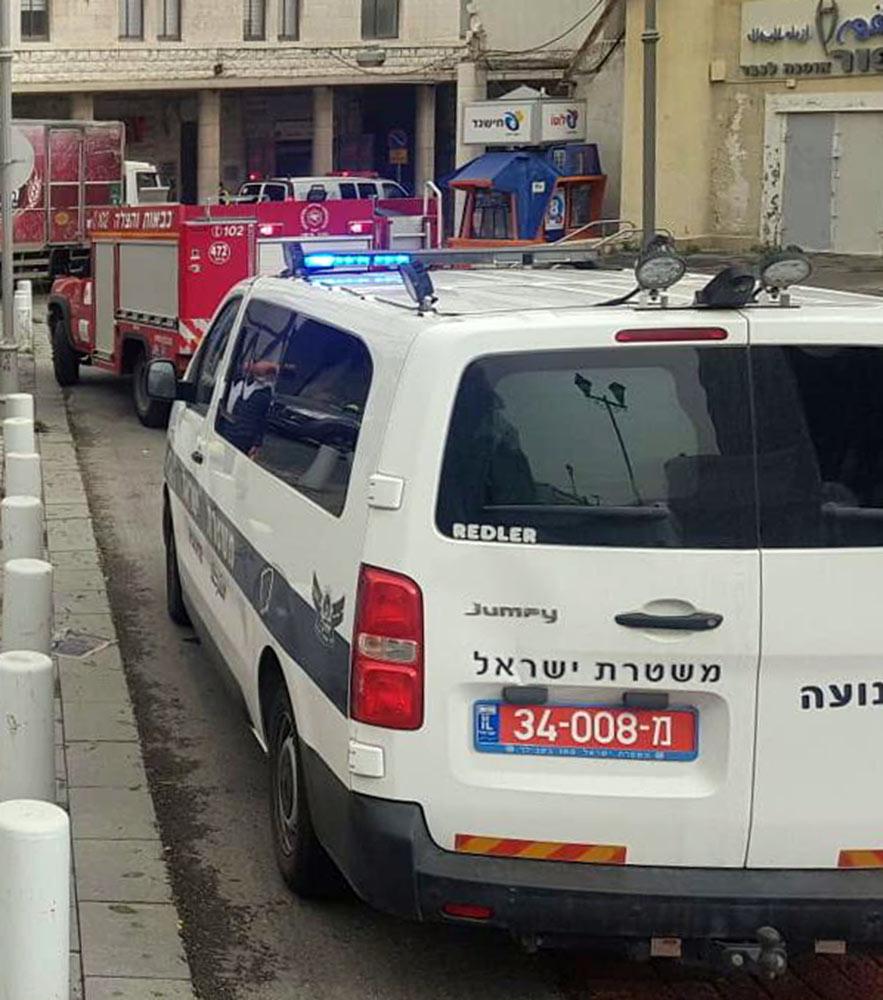 אשה נהרגה בתאונת דרכים ברחוב נתנזון בחיפה (צילום: משטרת ישראל)