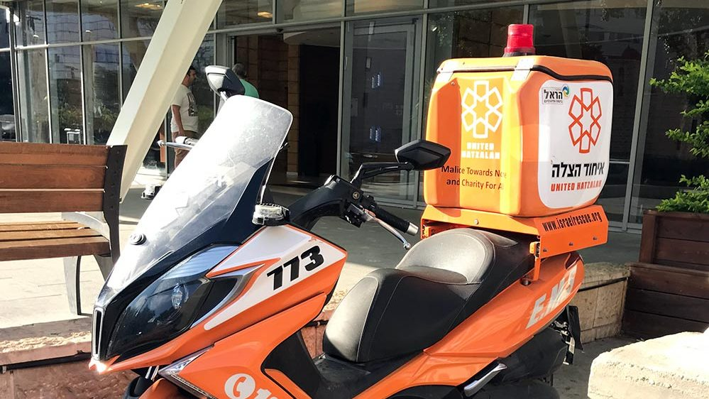 אופנוע של איחוד הצלה   התמונה להמחשה בלבד(צילום: נגה כרמי)