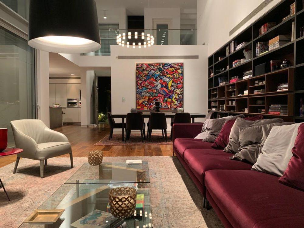 יצירה של גיל גורן בבית פרטי בתל אביב (צילום: גיל גורן)