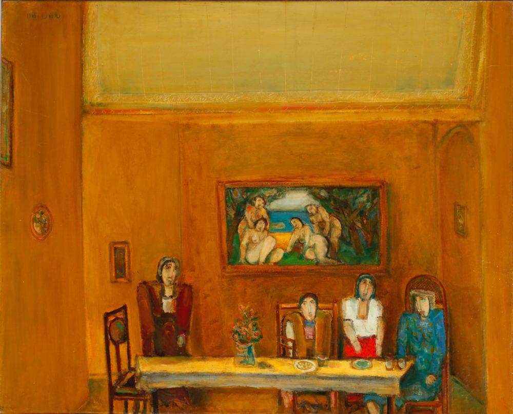ציור של שמואל בונה (צילום: אברהם חי, מוזיאוני חיפה)
