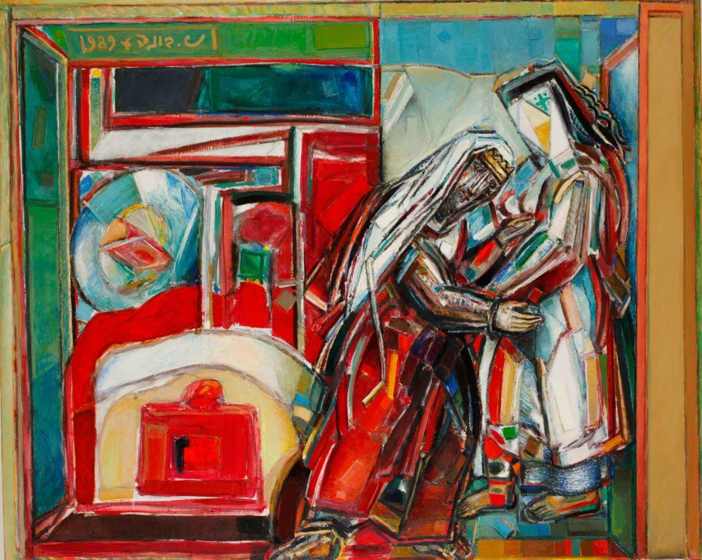ציור של שמואל בונה (צילום: אברהם חי מוזיאוני חיפה)