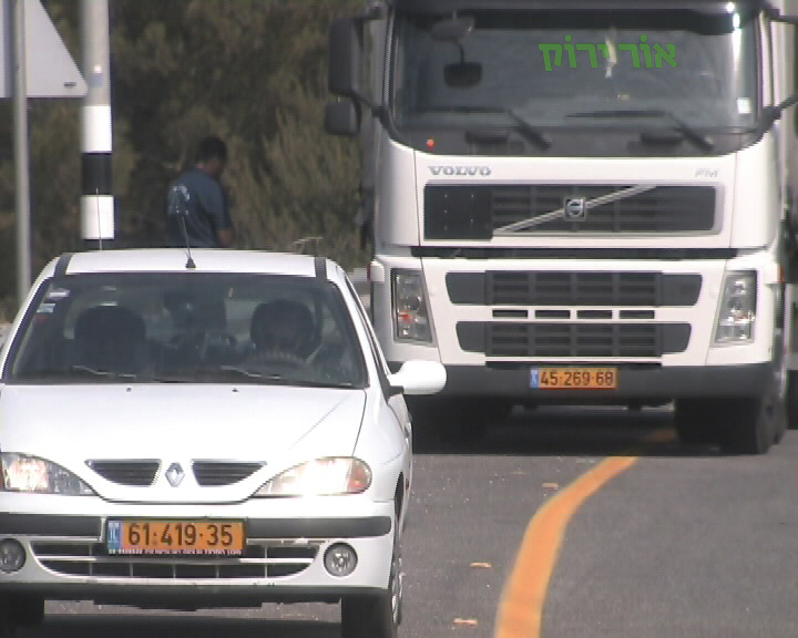 תאונות דרכים במעורבות רכב כבד (צילום: אור ירוק)