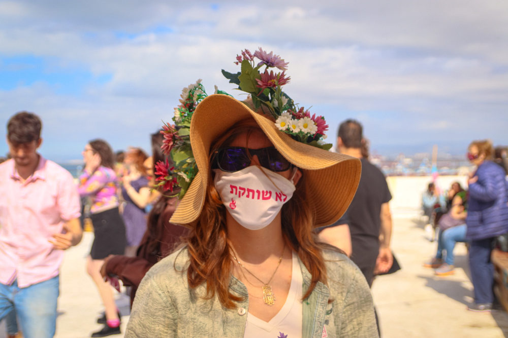 צעדת נשים בחיפה - לא שותקת (צילום: עומר מוזר)