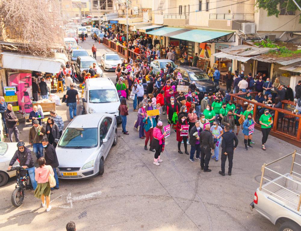 צעדת נשים בחיפה - נוכחות מרשימה (צילום: עומר מוזר)