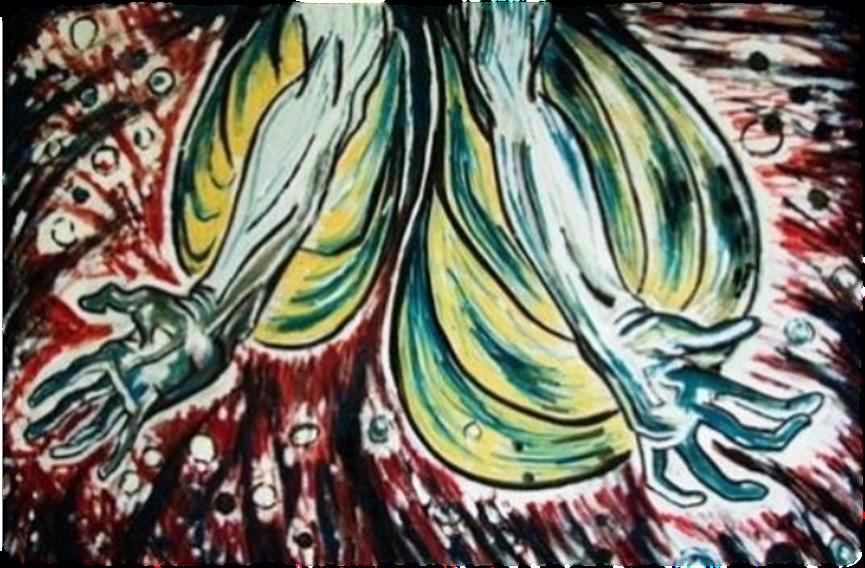 """ציור מאת אלזה שושנה לנגר ז""""ל (צילום: עדי לסרי)"""