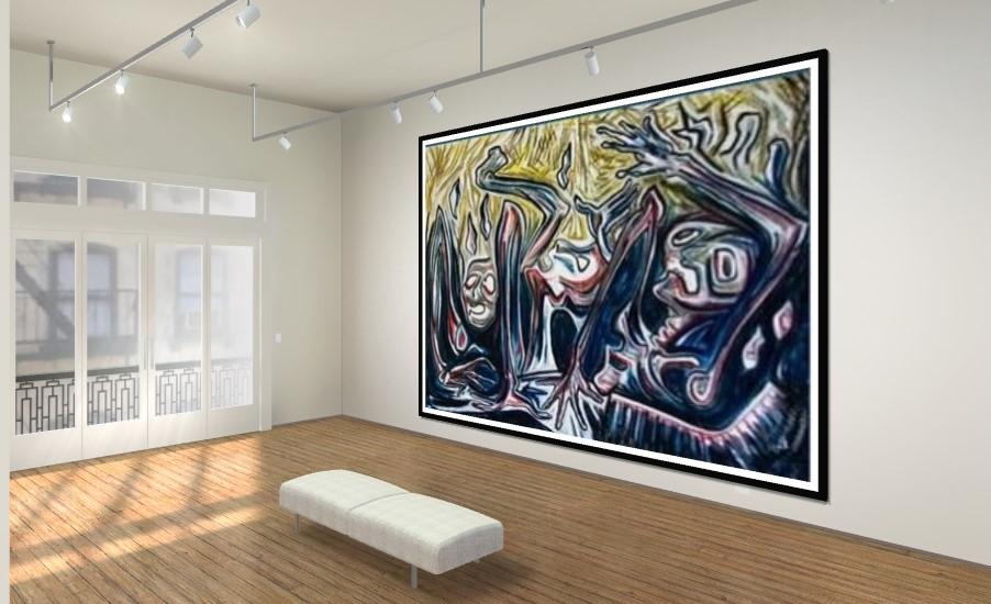 """תערוכה עם יצירותיה של אלזה שושנה לנגר ז""""ל (צילום: עדי לסרי)"""