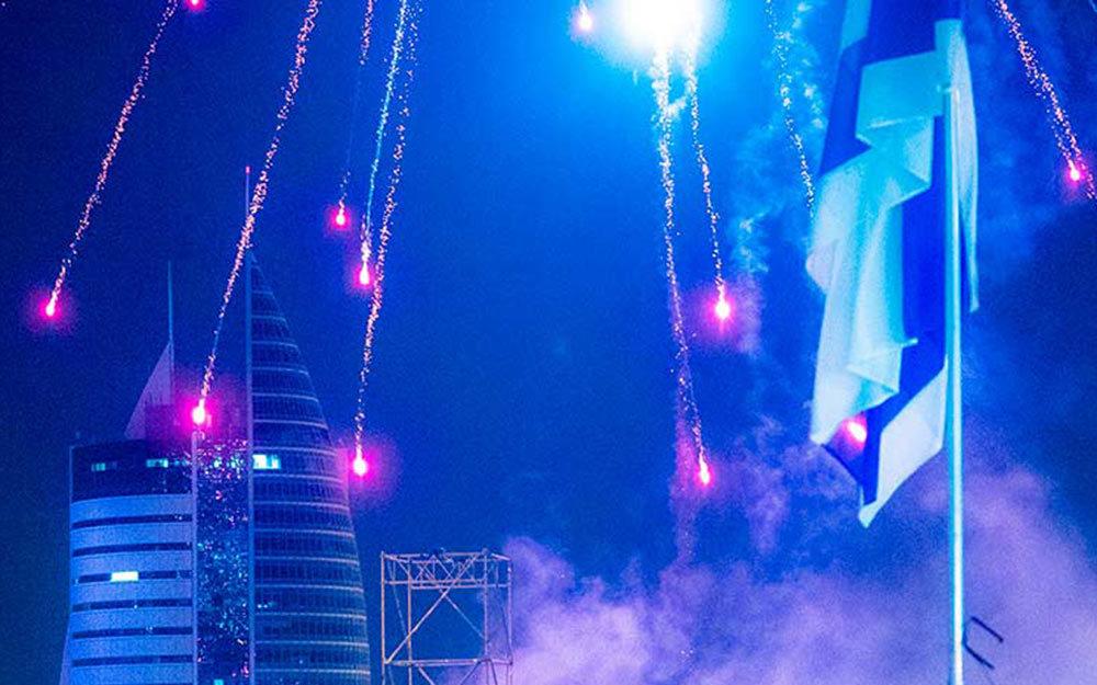 מופע זיקוקים בחיפה - יום העצמאות (צילום - ירון כרמי)