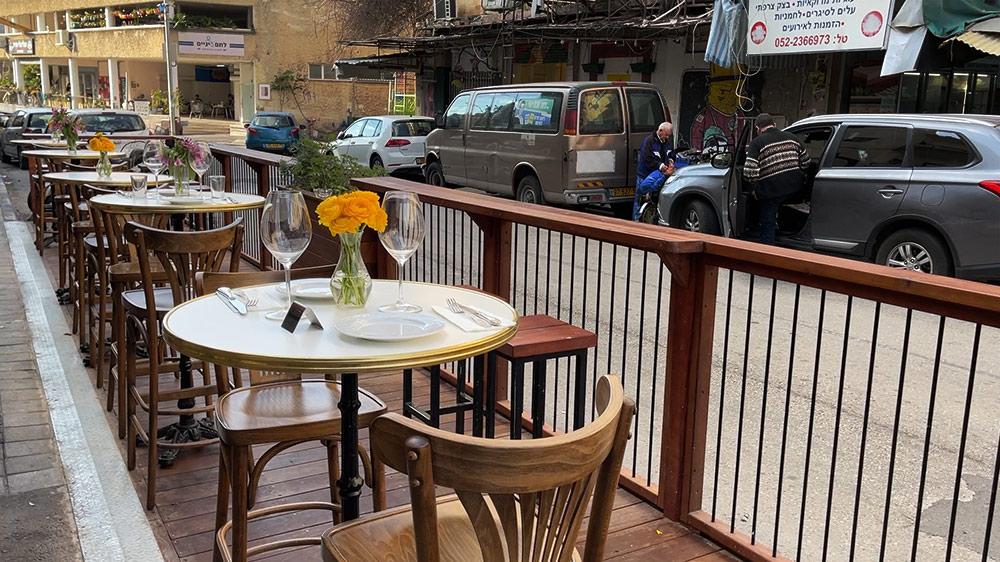 פרקלט הוצב על ידי עיריית חיפה בשוק תלפיות (צילום: ירון כרמי)