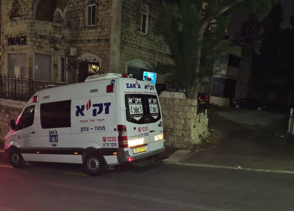 """זיידת זק""""א בזירה בחיפה (צילום: אהרן ברוך לייבוביץ)"""