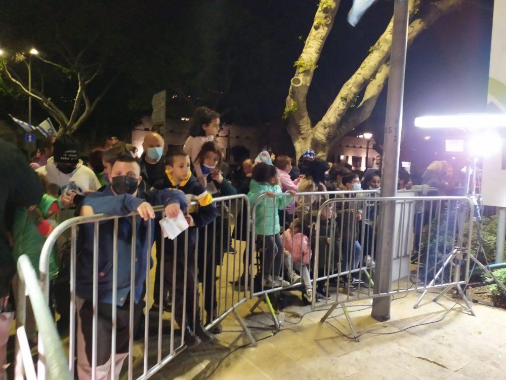 אירוע סגור ביום העצמאות בחיפה - גן הזיכרון מול עיריית חיפה (צילום: חגית אברהם)