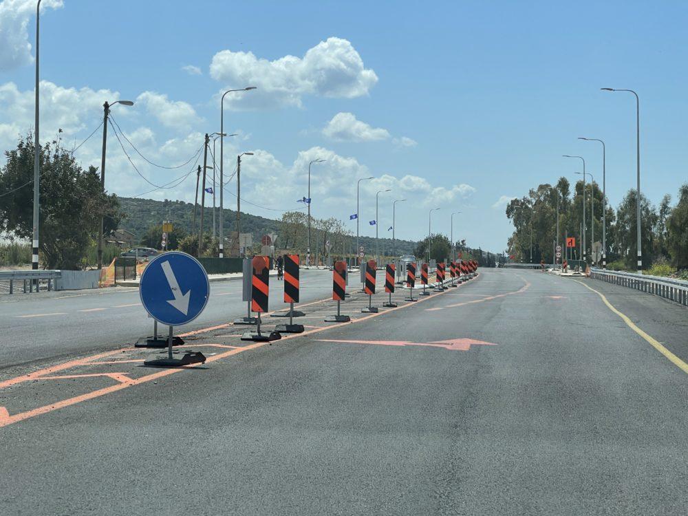 שדרוג צומת ורמזור חדש אשר יוצב בצומת עין הוד - ניר עציון, על כביש 4 (צילום: ירון כרמי)
